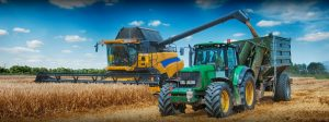 Combine, Tractor and Trailer